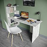 Стол письменный с полками слева, для ноутбука и компьютера S-24, фото 2