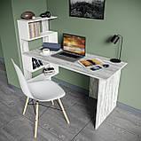 Стол письменный с полками слева, для ноутбука и компьютера S-24, фото 8
