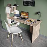 Стол письменный с полками слева, для ноутбука и компьютера S-24, фото 9