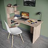 Стол письменный с полками слева, для ноутбука и компьютера S-24, фото 7