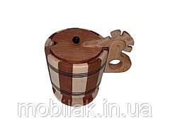 Цукорниця деревяна з кришкою ТМ ЧЕРНІВЦІ