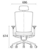 Кресло компьютерное c подголовником Patra FLEX