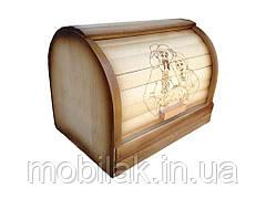 Хлібниця деревяна Бочка висувна ТМ ЧЕРНІВЦІ