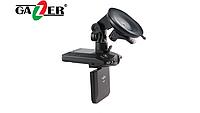 """Gazer H521 HD автомобильный видеорегистратор с откидным поворотным дисплеем 2,5"""", ИК-подсветкой и съемным акку"""