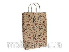 Пакет крафт подарунковий 24 * 37 * 10см №ПАК-1002БР ТМ УПАКОВКИН