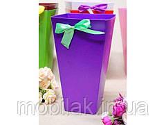 Коробка для квітів трапеція велика 9,5*15*26,5 див. Кол. Фіолетовий ТМ УПАКОВКИН