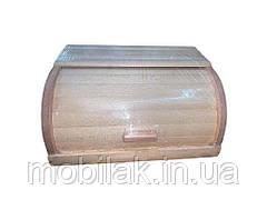 Хлібниця деревяна букова на рейках (світла) просякнута Варена ТМ ЧЕРНІВЦІ