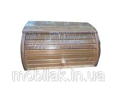 Хлібниця деревяна букова на рейках (темна) просякнута Горіх ТМ ЧЕРНІВЦІ
