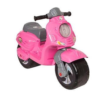 Мотоцикл, байк, толокар с двумя большими колесами для девочек Розовый мотоцикл для девочки