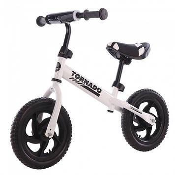 Прогулочный беговел, велобег для детей Белый беговел Велобег