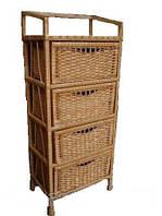Комод плетеный из лозы с 4 ящиками