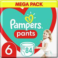 Подгузники-трусики детские Pampers Pants Extra Large 6 (16+ кг) Mega Pack, 84 шт, фото 1