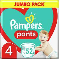 Підгузки-трусики Pampers Pants Maxi 4 (9-14 кг) Jumbo Pack, 52 шт, фото 1