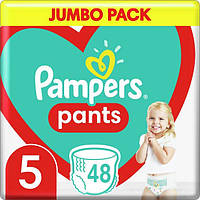 Подгузники-трусики детские Pampers Pants Junior 5 (12-18 кг) Jumbo Pack, 48 шт, фото 1