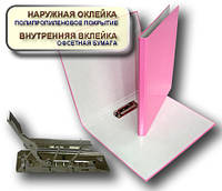 Папка с прижимом MINICLIP 25мм А4 PP покрытие Перспектива-Славутич, Украина, Скоросшиватель, розовый