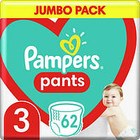 Подгузники-трусики детские Pampers Pants Midi 3 (6-11 кг) Jumbo Pack, 62 шт, фото 1