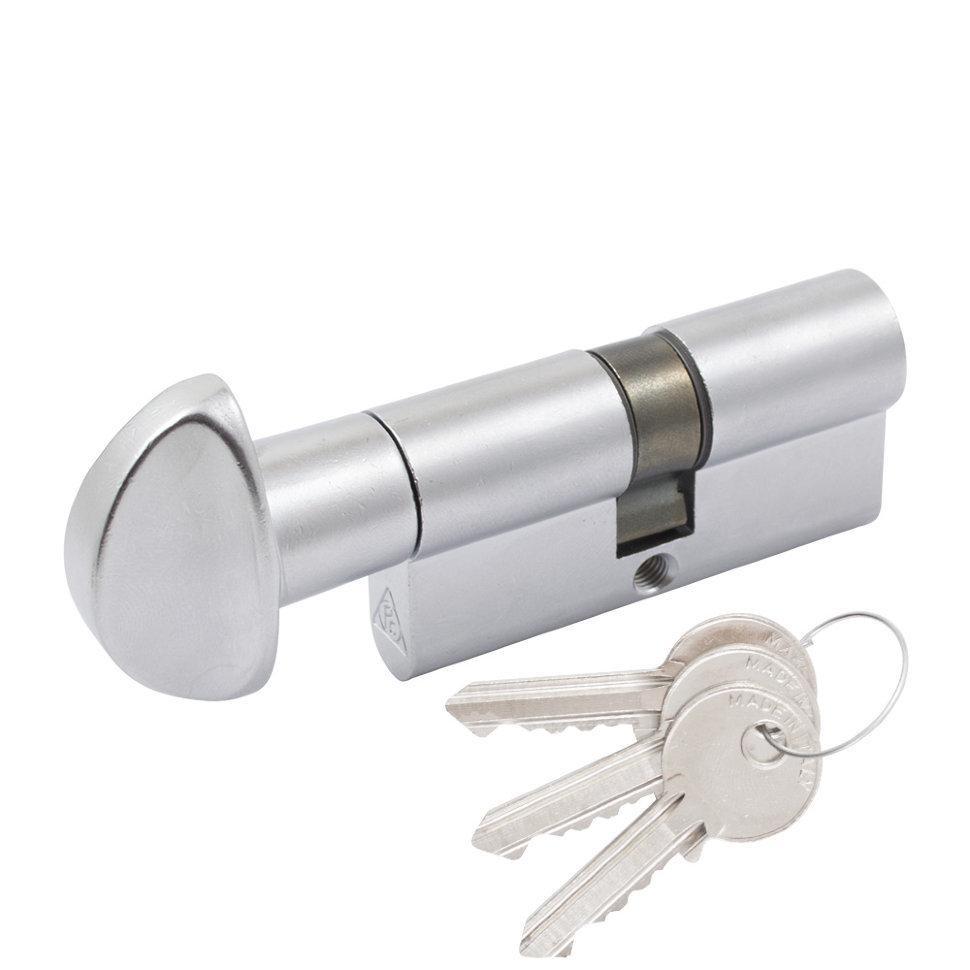 Циліндр Cortelezzi 117F 30x30 ключ/поворот. мат хром (52859)