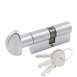 Цилиндр Cortelezzi 117F 30x30 ключ/поворот. мат хром (52859)