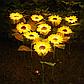 Фонарь садовый Подсолнух  на солнечной батарее, теплый белый., фото 4