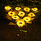 Ліхтар садовий Соняшник на сонячній батареї, 2шт. в уп., теплий білий., фото 4