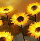 Фонарь садовый Подсолнух  на солнечной батарее, теплый белый., фото 5