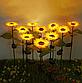 Фонарь садовый Подсолнух  на солнечной батарее, теплый белый., фото 6