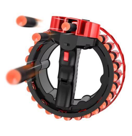 Автоматичний бластер кулемет Growler на 28 зарядів, працює від акумулятора