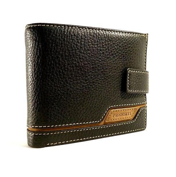 Кошелек мужской кожаный черный карты, монеты Prensiti 8938a