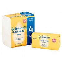 Детское мыло JOHNSON S Baby с медом, 4X100 гр.
