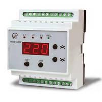 Трехфазное реле напряжения и контроля фаз РНПП-302 (послед., перекоса и обрыва фаз, контроль МП, индикация)