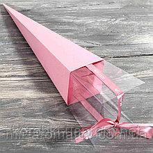 Коробочка для розы, складная 60см  --10шт  --розовая --