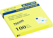 Бумага для заметок неоновая цветная Buromax BM2312-98