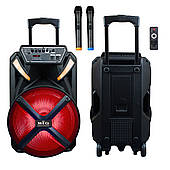 Активная акустическая система BIG PRO BIG230BAT USB/MP3/FM/BT/TWS + 2 беспроводных микрофона 230 Ватт