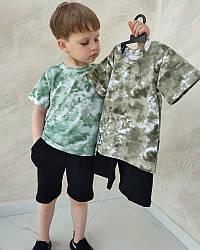 Літній костюм для хлопчика футболка і шорти в стилі тай дай
