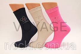 Жіночі шкарпетки високі стрейчеві з камінчиками UGS