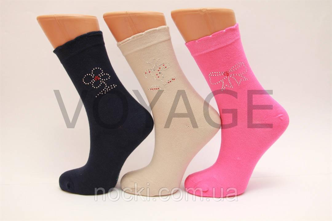 Женские носки высокие стрейчевые с камушками UGS