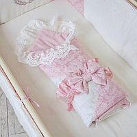 Конверт-плед De lux резинка с бантом пыльная роза
