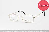 Металева універсальна прямокутна оправа для окулярів, фото 1