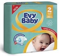 Підгузники дитячі Evy Baby 2 (3-6кг) 80шт Mini
