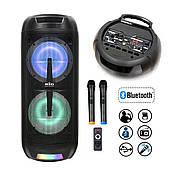 Активна акустична система BIG PRO BIG150ELYSIUM USB/MP3/FM/BT/TWS + 2 бездротових мікрофона 150 Ватт