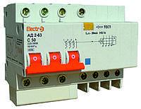 Дифференциальный автоматический выключатель (Диф. автомат) АД2-63  3 полюса+N  40А  30мА, TM Electro