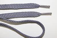 Шнурки плоские (чехол) 8 мм. серый