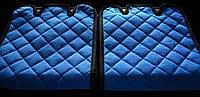 Накидки на сиденья автомобиля премиум (передние, AVторитет, синий)
