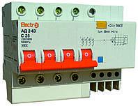 Дифференциальный автоматический выключатель (Диф. автомат) АД2-63 4 полюса 16А  30мА, TM Electro