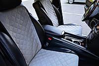 Накидки на сиденья автомобиля (передние, AVторитет, серый)