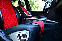 Накидки на сиденья автомобиля (передние, AVторитет, красный)