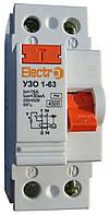 Устройство защитного отключения УЗО 1-63 2P 16А 100mA, TM Electro