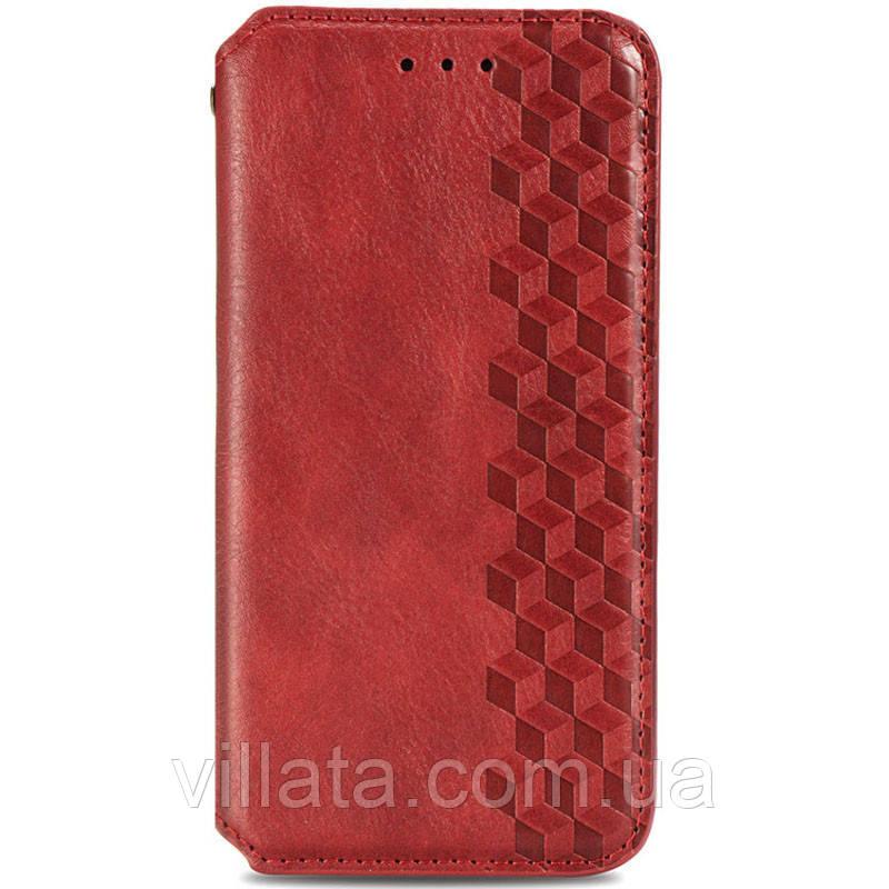 Кожаный чехол книжка GETMAN Cubic (PU) для Samsung Galaxy A32 4G