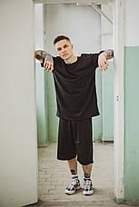 Мужская летняя оверсайз футболка Player Oversize Black черного цвета, фото 3