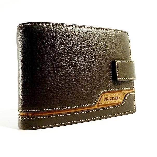 Кошелек мужской кожаный коричневый карты, монеты Prensiti 8948a